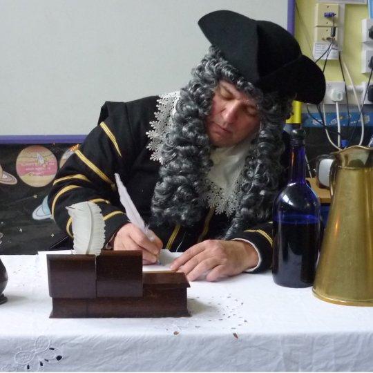 Image of Samuel Pepys writing his diary